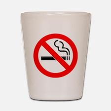 No Smoking Shot Glass