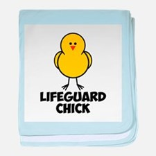 Lifeguard Chick baby blanket