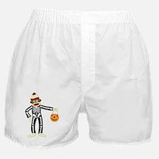 Sock Monkey Halloween Boxer Shorts