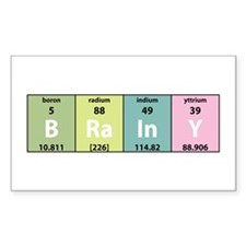 Chemistry Brainy Rectangle Decal