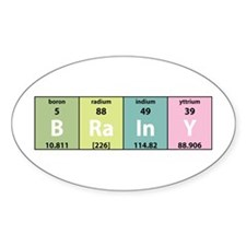 Chemistry Brainy Oval Decal