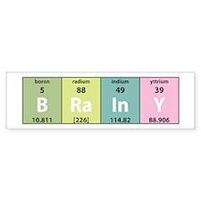 Chemistry Brainy Bumper Bumper Sticker