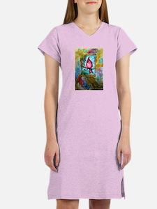 Cardinal, red, Bird, art, Women's Nightshirt