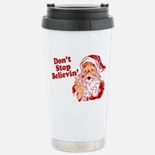 Don't Stop Believin' Santa Travel Mug