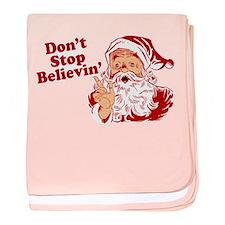 Don't Stop Believin' Santa baby blanket