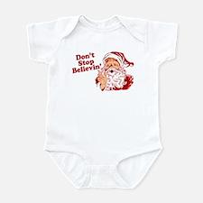 Don't Stop Believin' Santa Infant Bodysuit