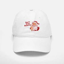 Don't Stop Believin' Santa Baseball Baseball Cap