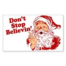 Don't Stop Believin' Santa Decal
