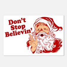 Don't Stop Believin' Santa Postcards (Package of 8