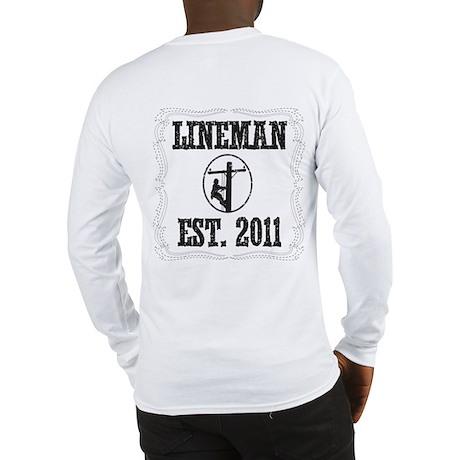 Lineman Born Long Sleeve T-Shirt