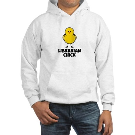 Librarian Chick Hooded Sweatshirt