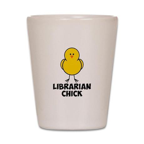Librarian Chick Shot Glass