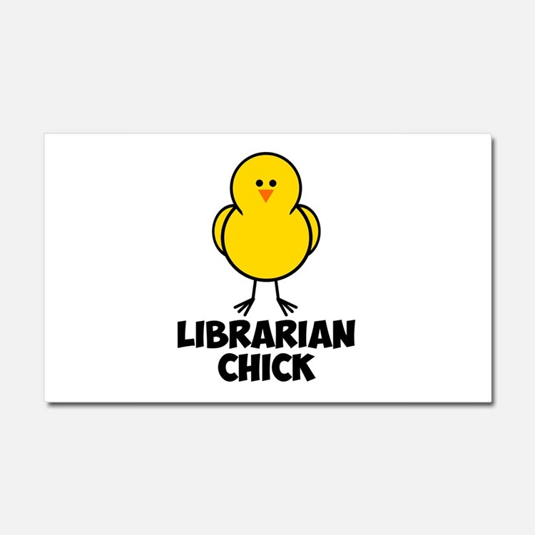 Librarian Chick Car Magnet 20 x 12