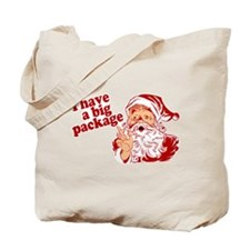 Santa Has a Big Package Tote Bag