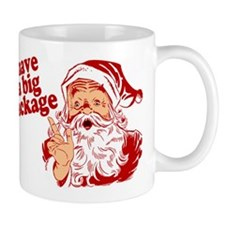 Santa Has a Big Package Mug