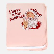 Santa Has a Big Package baby blanket
