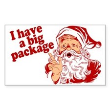 Santa Has a Big Package Decal