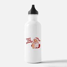 Santa Has a Big Package Water Bottle