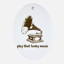 Funky Music (brown) Ornament (Oval)