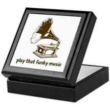Funky Music (brown) Keepsake Box