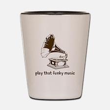 Funky Music (brown) Shot Glass