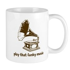 Funky Music (brown) Small Mug