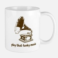 Funky Music (brown) Small Small Mug