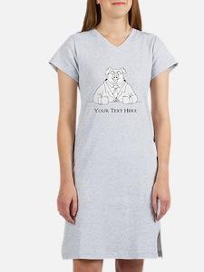 Pig in Suit. Custom Text Women's Nightshirt