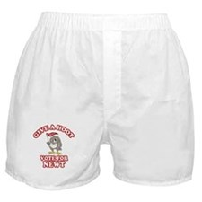 Give A Hoot Vote For Newt Boxer Shorts