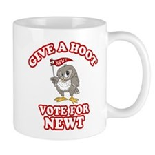 Give A Hoot Vote For Newt Small Mug