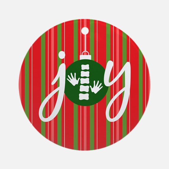 Joy Chiropractic Logo Round Ornament