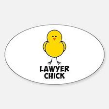 Lawyer Chick Sticker (Oval)