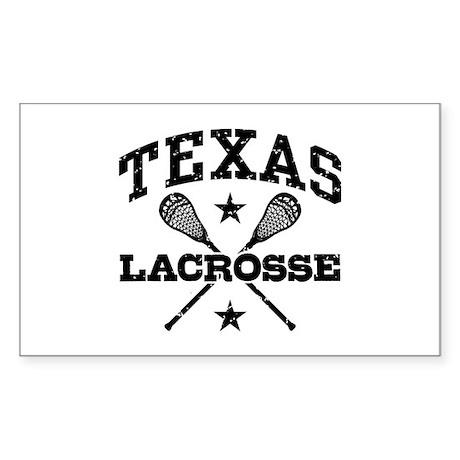 Texas Lacrosse Sticker (Rectangle)