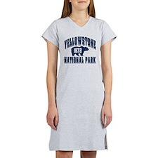 Yellowstone Old Style Blue Women's Nightshirt