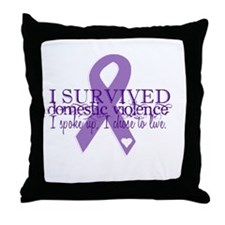 Domestic Violence Survivor Throw Pillow
