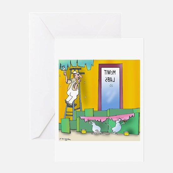Lab Rats Wallpaper Greeting Card