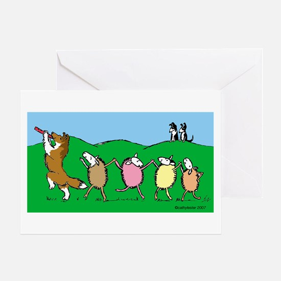 Pied Piper Sheltie Greeting Card