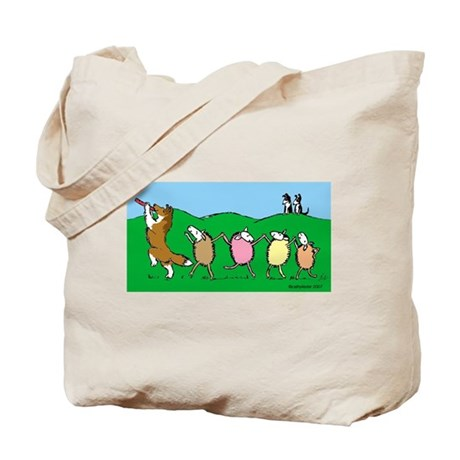 Pied Piper Sheltie Tote Bag