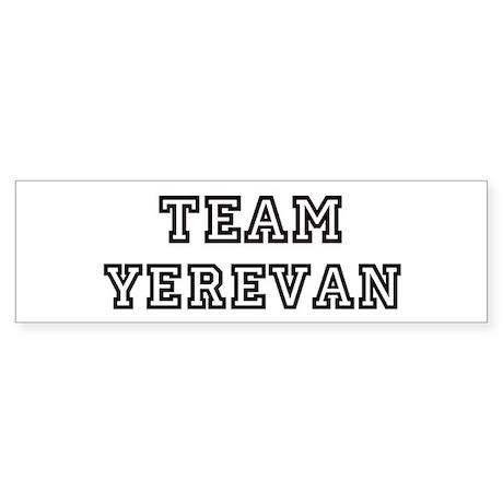 Team Yerevan Bumper Sticker