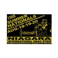 Niagara Drag Strip Rectangle Magnet