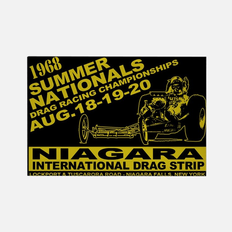 Niagara Drag Strip Rectangle Magnet