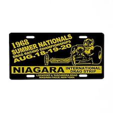 Niagara Drag Strip Aluminum License Plate