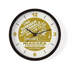 Niagara Drag Strip Wall Clock