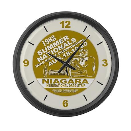 Niagara Drag Strip Large Wall Clock