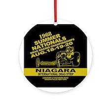 Niagara Drag Strip Ornament (Round)