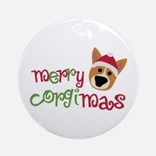 Merry Corgimas Ornament (Round)