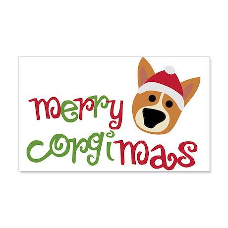 Merry Corgimas 22x14 Wall Peel