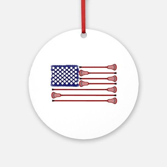 Lacrosse AmericasGame Ornament (Round)