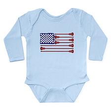 Lacrosse AmericasGame Long Sleeve Infant Bodysuit