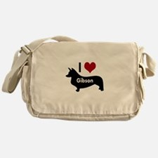 I Love My Corgi's Name Messenger Bag
